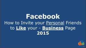 Facebook Business Page – How to Get Likes – Video